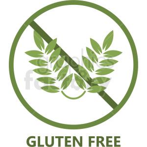 green gluten free symbol no background