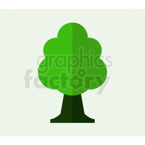 cartoon tree on light green background