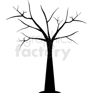 bare tree design clipart. Royalty-free image # 408947