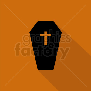 halloween coffin icon design clipart. Royalty-free image # 408959