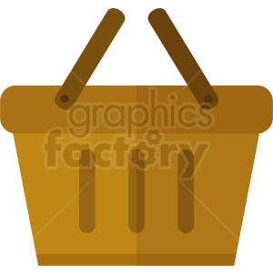 yellow picnic basket icon no background clipart. Royalty-free image # 408979