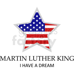 Martin Luther king star vector icon