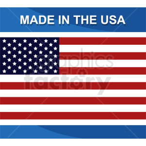 made usa icon with flag clipart. Commercial use image # 409031