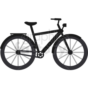 black bicycle vector clipart. Commercial use image # 409127