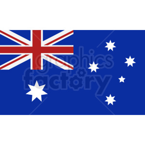 australian flag vector clipart. Royalty-free image # 409147