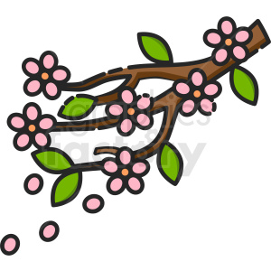 flower branch icon clipart. Royalty-free icon # 409174