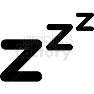 sleep zzz vector clipart. Royalty-free image # 409181