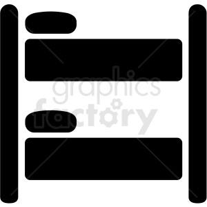 bunk bed vector icon design clipart. Royalty-free image # 409183
