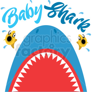 baby shark mouth open design clipart. Royalty-free image # 409221