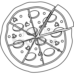 pizza outline clipart. Commercial use image # 409243