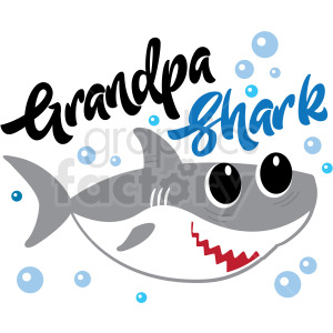 grandpa shark typography design clipart. Commercial use image # 409217