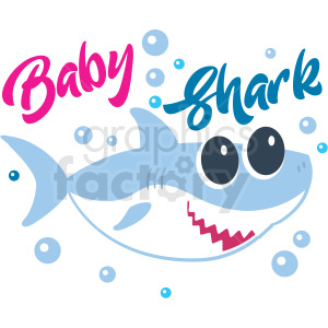 baby girl shark typography design