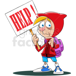 cartoon refugee needing help no background clipart. Royalty-free image # 409330