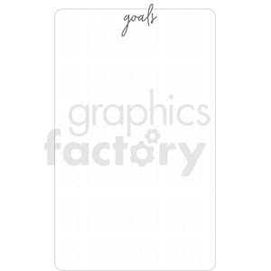 goals dot grid digital planner sticker clipart. Royalty-free image # 409379