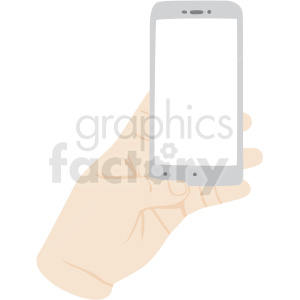 hand barely holding phone vector clipart