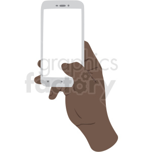 african american thumb scrolling on phone vector clipart no background