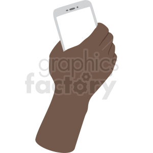 african american hand with phone vector clipart no background clipart. Royalty-free image # 409454