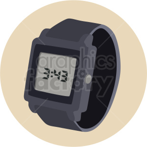digital watch on circle background clipart. Royalty-free image # 409462