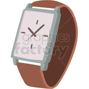 wrist watch with leather band clipart. Royalty-free image # 409486