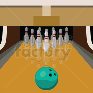 bowling lane vector clipart on square background clipart. Royalty-free image # 409544