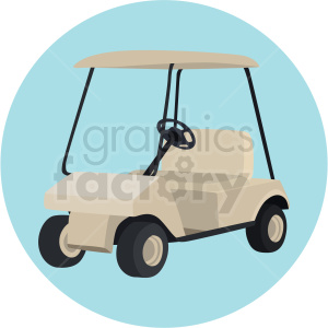 golf cart vector clipart on blue background clipart. Commercial use image # 409547