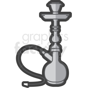 hookah smoking pipe vector clipart clipart. Commercial use image # 409574