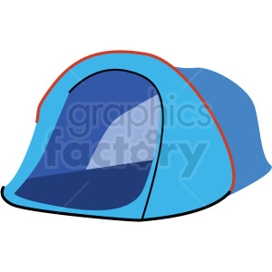 single person camping tent vector clipart clipart. Royalty-free image # 409589
