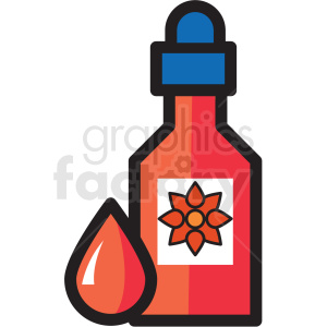 cbd dropper bottle vector icon clipart clipart. Royalty-free image # 409629