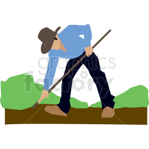 white man landscaper vector clipart clipart. Commercial use image # 409677