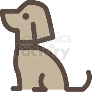 dog vector icon clipart clipart. Royalty-free icon # 409689