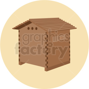 beehive house vector yellow background clipart. Royalty-free image # 410061