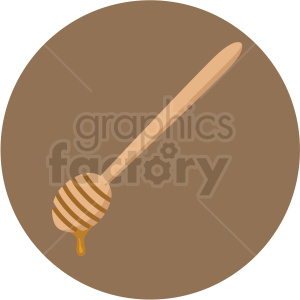 honey stick dripping vector clipart circle background clipart. Royalty-free image # 410067