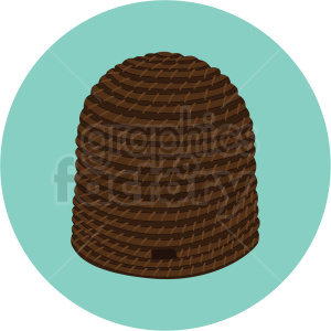 beehive vector on circle background clipart. Royalty-free image # 410072
