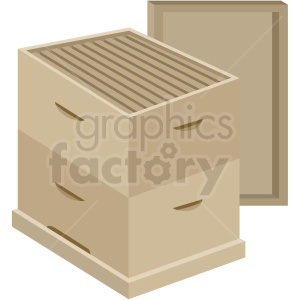 open beehive box vector no background