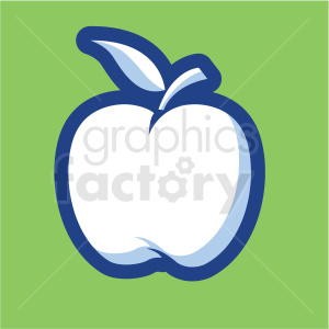 apple vector icon on green background clipart. Commercial use image # 410170