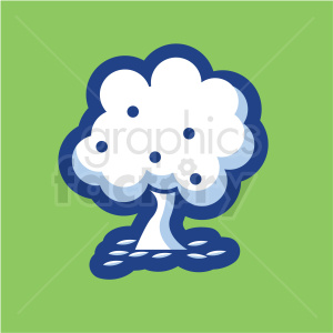 tree vector icon on green background clipart. Royalty-free image # 410172