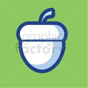 acorn vector icon on green background
