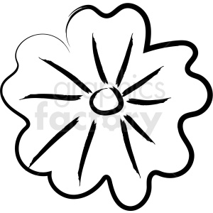 cartoon flower drawing vector icon clipart. Royalty-free image # 410200