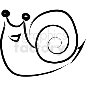 cartoon snail drawing vector icon