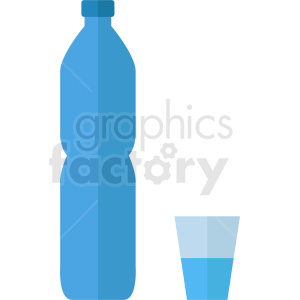 water bottle vector clipart. Royalty-free image # 410275