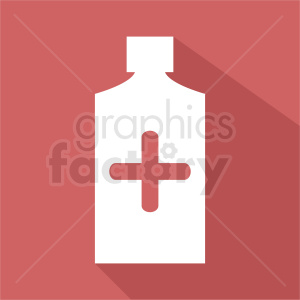 cough syrup bottle square background clipart. Commercial use image # 410283