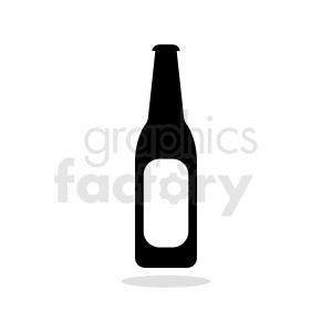 bottle silhouette with label clipart clipart. Commercial use image # 410321