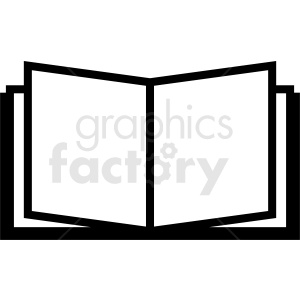 vector book icon no background clipart. Royalty-free image # 410355