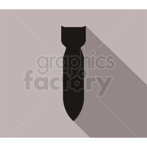 missile on gray background
