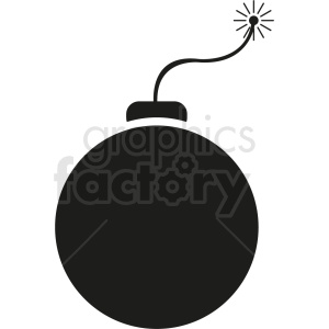 black bomb vector icon clipart. Commercial use image # 410381