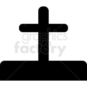 cemetery cross vector icon clipart. Royalty-free image # 410451