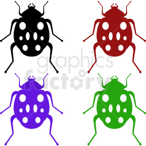 vector insect clipart set clipart. Royalty-free image # 410478