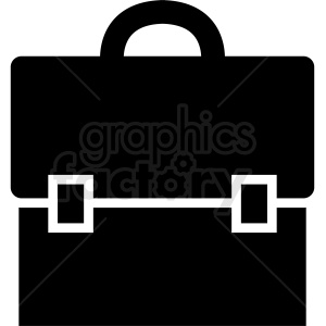 black white vector briefcase clipart clipart. Royalty-free image # 410505