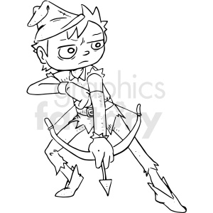 robinhood cartoon clipart. Commercial use image # 410525