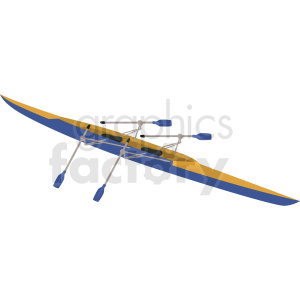 two seater kayak long distance vector clipart clipart. Royalty-free image # 410608